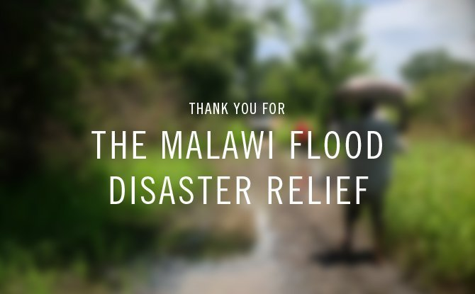 thank you | malawi flood disaster relief